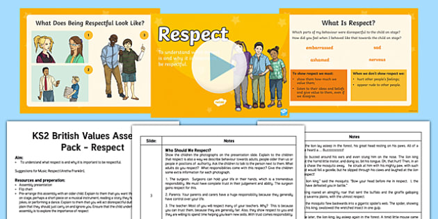 British Values Respect Assembly Pack