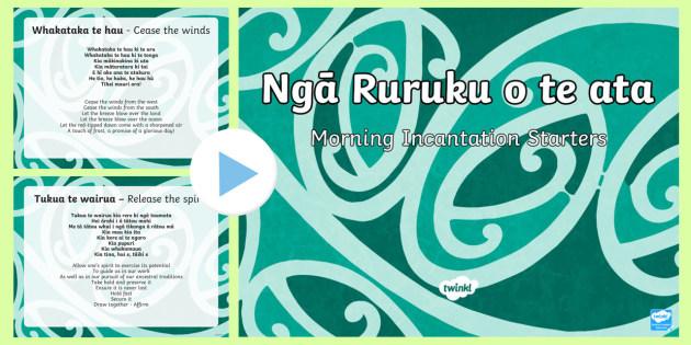 Ruruku  Morning Starters PowerPoint