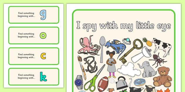 I Spy Phase 2 Set 3 - I Spy, phase 2, phase 2, spy, eye, activity, eal