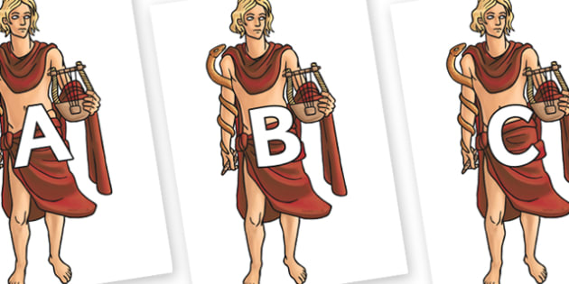 A-Z Alphabet on Apollo - A-Z, A4, display, Alphabet frieze, Display letters, Letter posters, A-Z letters, Alphabet flashcards