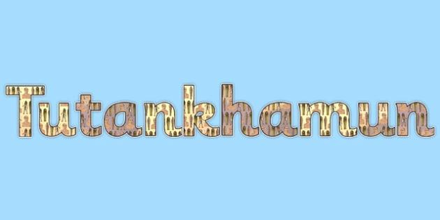 Tutankhamun Display Lettering - tutankhamun, display lettering, title, lettering, display, letters