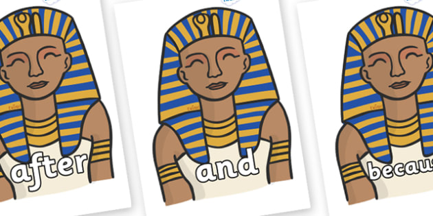 Connectives on Pharaoh - Connectives, VCOP, connective resources, connectives display words, connective displays