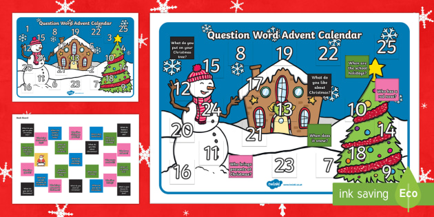 Question Word Advent Calendar