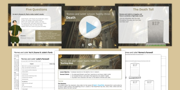 Romeo and Juliet Lesson Pack 23: Death