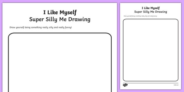 I Like Myself Super Silly Me Drawing - usa, america, i like myself, all about me, super, silly, me, drawing