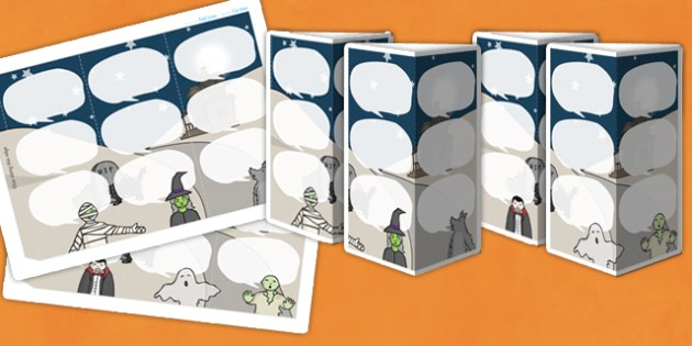 Halloween Themed Standing Tabletop Targets - halloween, halloween themed, table top targets, targets, class targets, themed targets, class management