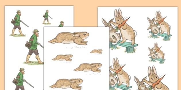 Beatrix Potter - The Story of a Fierce Bad Rabbit Size Ordering - beatrix potter, fierce, bad, rabbit