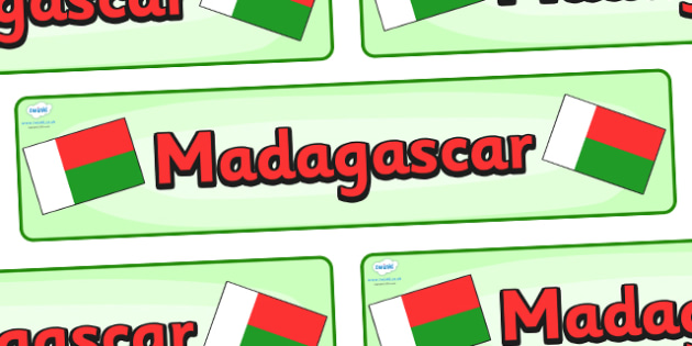 Madagascar Display Banner - Madagascar, Olympics, Olympic Games, sports, Olympic, London, 2012, display, banner, sign, poster, activity, Olympic torch, flag, countries, medal, Olympic Rings, mascots, flame, compete, events, tennis, athlete, swimming