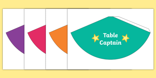 Table Captain Cones