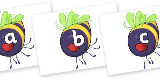 Phase 2 Phonemes on Bumblebee to Support Teaching on The Crunching Munching Caterpillar - Phonemes, phoneme, Phase 2, Phase two, Foundation, Literacy, Letters and Sounds, DfES, display