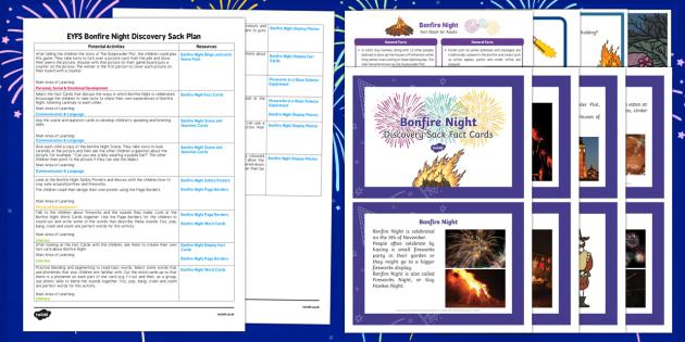 EYFS Discovery Sack Festivals Bonfire Night - fireworks, festival
