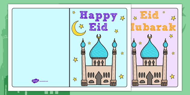 Eid Mubarak Cards - activity, activities, crafts, greetings