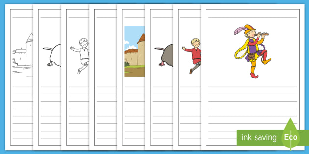 The Pied Piper Story Writing Frames - story, writing, frames