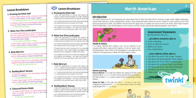 Art: North American Art UKS2 Planning Overview CfE