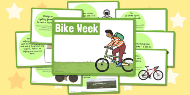 Bike Week Challenge Cards - bike week, challenge cards, cards