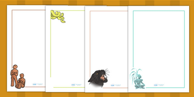 Mayan Civilization Creation Story Page Borders - writing template