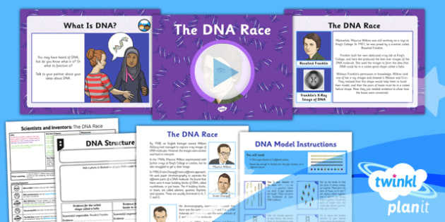 PlanIt - Science Year 6 - Scientists and Inventors Lesson 3: The DNA Race Lesson Pack - DNA, evolution, inheritance, James Watson, Francis Crick, Rosalind Franklin
