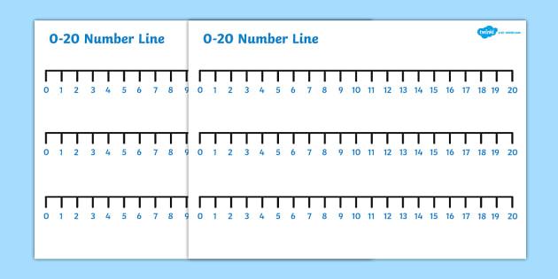 Numbers 0-20 Number Line - numbers, number line, 0-20 n, line, 0-20
