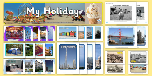 Holiday Pictures Resource Pack - fairground, rides, resort, location, vacation, hotel, beach, travel