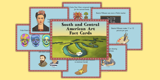 South and Central American Art Fact Cards - south, central, america, art, fact cards