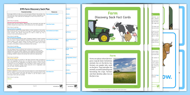EYFS Farm Discovery Sack Plan and Resource Pack - farm, farm yard, EYFS, discovery