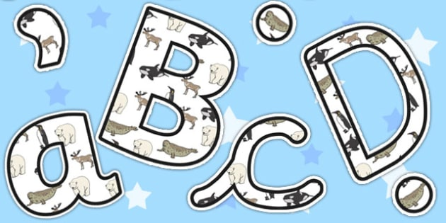 Polar Animals Display Lettering - Polar, Animals, Display, Ice