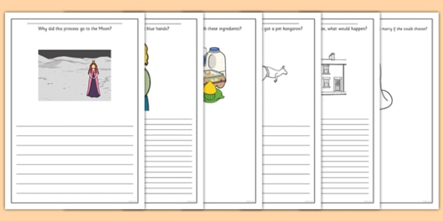 Princess Themed Creative Writing Prompt Question Writing Frames - creative writing, prompt, question, writing frames, writing, frames, creative, princess