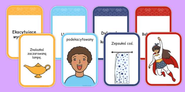 Karty inspirujące do tworzenia opowiadań po polsku