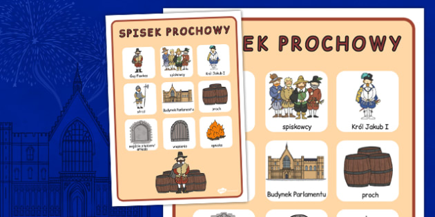 Materialy na gazetke scienna Spisek prochowy po polsku , Polish