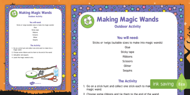 Making Magic Wands Outdoor Activity