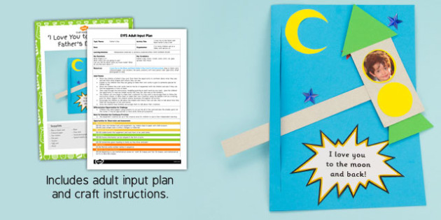 I Love You to the Moon Father's Day Craft EYFS Adult Input Plan and Craft Pack