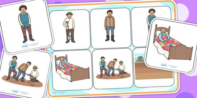 The Farmer and His Sons Matching Mat SEN - SEN mat, visual aid