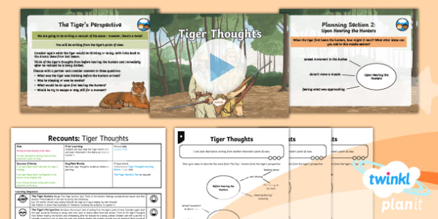 PlanIt Y6 Animals: The Tyger Lesson Pack - Animals: The Tyger, tiger, year 6, ys, uks2, literacy, english, writing, drama, poetry, personificat