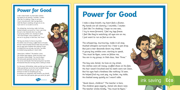 KS2 Anti-Bullying Poem - Antibullying week, friend, friendship, kind, caring, traits, personality, unique, uniqueness, bully,