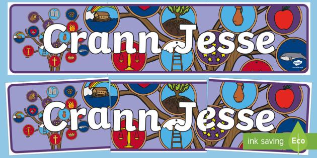 Crann Jesse Display Banner-Irish