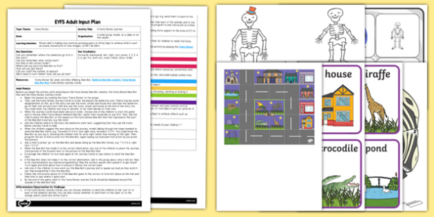 EYFS A Funny Bones Journey Adult Input Plan and Resource Pack