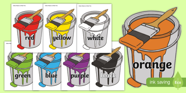 Colour Names on Paint Tins - cfe, curriculum for excellence, colour names, paint tins, display