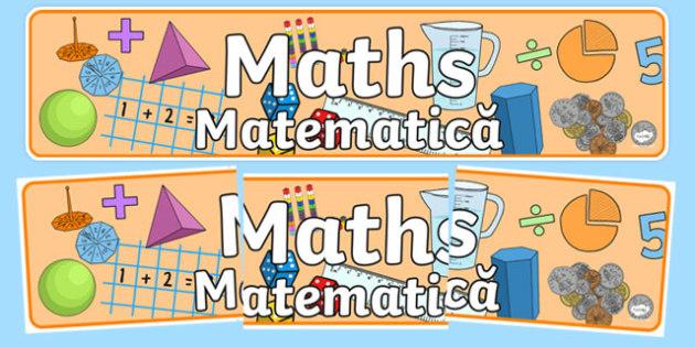 Maths Display Banner Romanian Translation - romanian, mathematics display banner, maths display banner, maths banner, mathematics display, mathematics, numeracy