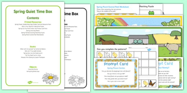 Spring Quiet Time Box - Spring, EYFS, quiet time, quiet time box, quiet