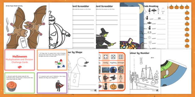 Home Education Halloween  Activity Pack
