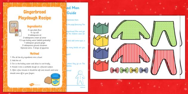 Christmas Gingerbread Man Playdough Busy Bag Resource Pack for Parents - Gingerbread, Christmas, EYFS