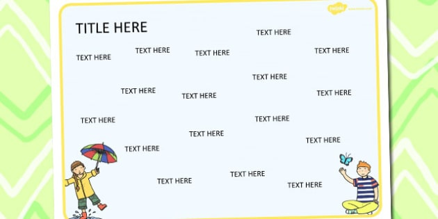 Spring Themed Editable Word Mat - literacy, writing, visual aids