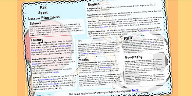 Sport Lesson Plan Ideas KS2 - sport, lessons, lesson plan, KS2