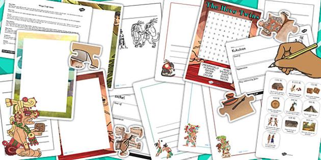 Mayan Activity Resource Pack - mayan, activity, pack, resource