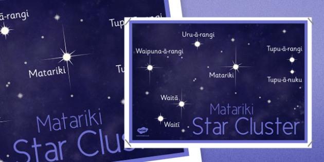 Matariki Poster Te Reo Maori - nz, new zealand, matariki, stars, Maori, Te Reo, celebration