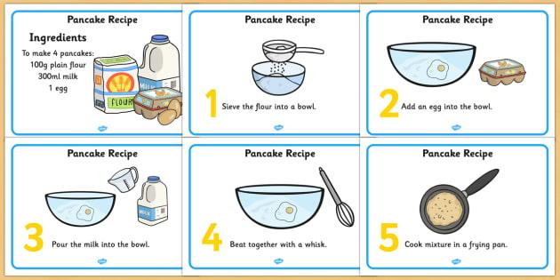 Pancake Recipe Sheets - pancake, pancake day, recipe, cooking