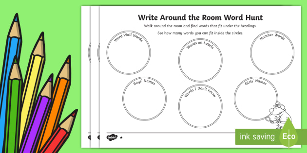 Classroom Word Hunt Activity Sheet - Back to School, transition, back to school spelling, word hunt, scavenger hunt, start of the year, w