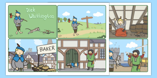 Dick Whittington Story Sequencing Cards - sequencing, cards, dick