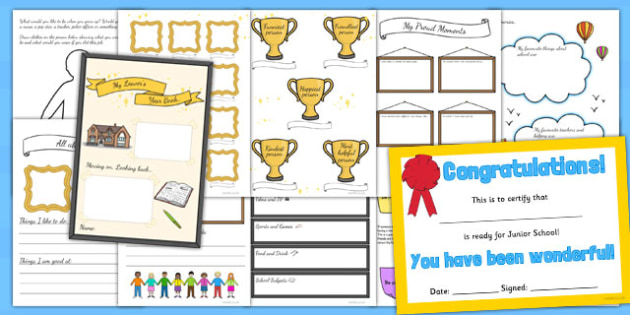 Infant to Junior School Leavers Book - infant, junior, school