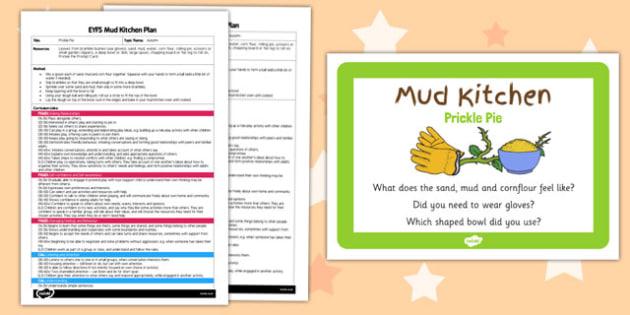 Prickle Pie EYFS Mud Kitchen Plan and Prompt Card Pack - mud kitchen